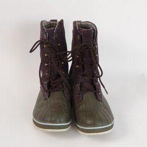 "Sorel Tivoli Camp 18"" Boots sz 7 Suede Brown Top"